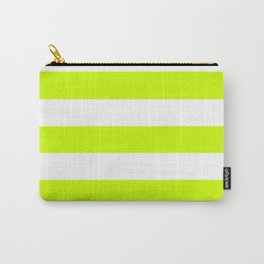 Volt - solid color - white stripes pattern Carry-All Pouch