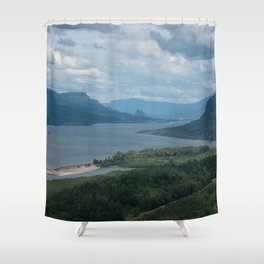 Columbia River Gorge From The Vista House Shower Curtain