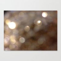 gold glitter Canvas Prints featuring Gold Glitter by JoJoM