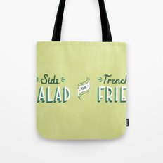 Side Salad or French Fries Tote Bag