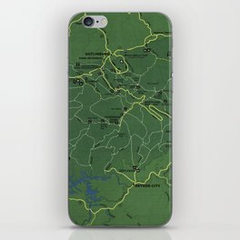 The Great Smoky Mountains National Park Map (1971) iPhone Skin