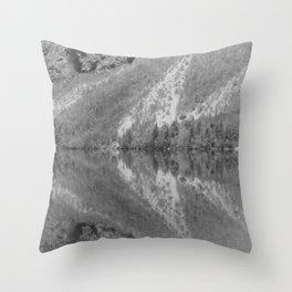 Silver Landscape At Lake Bohinj Throw Pillow