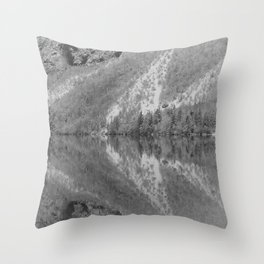 Silver Landscape At Lake Bohinj Throw Pillow