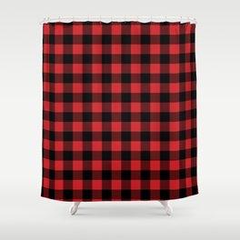 Buffalo Plaid Rustic Lumberjack Buffalo Check Pattern Shower Curtain