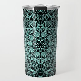 Mandala Project 235   Seafoam Green Travel Mug