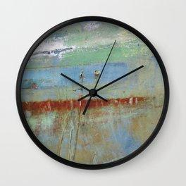 Harbour Abstract II - JUSTART (c) Wall Clock