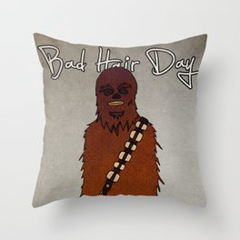 bad hair day no:3 / Chewbacca  Throw Pillow