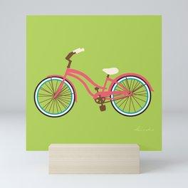 Cruiser Bike: Matcha Strawberry Mini Art Print