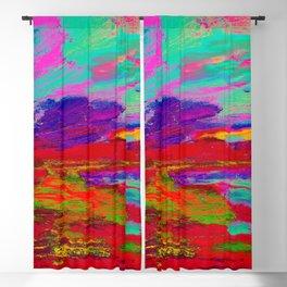 Digital Red Violet 125 Blackout Curtain