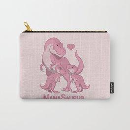 MamaSaurus T-rex & Twin Girls Dinosaurs Carry-All Pouch