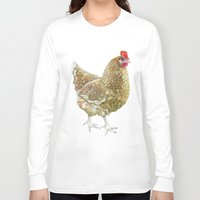 chicken Long Sleeve T-shirts featuring Chicken by Natasha Hutton