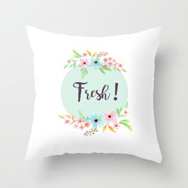 FRESH ! flower Throw Pillow