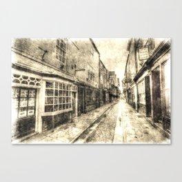 The Shambles York Vintage Canvas Print