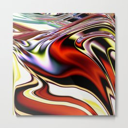 Extruded Colours Metal Print