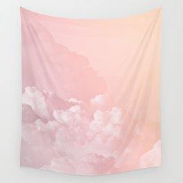 COTTON CANDY PASTEL CLOUDS Wall Tapestry