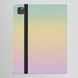Pastel Rainbow Ombre Gradient iPad Folio Case