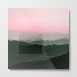 Pink Ridges Metal Print