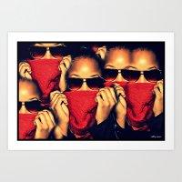 robin hood Art Prints featuring Red Robin Hood by Ashleynaomi