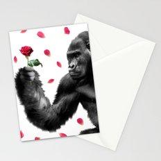Gorilla In Love Stationery Cards