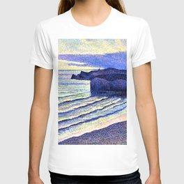 French Coastal Scene by Maximilien Luce T-shirt