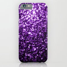Beautiful Purple glitter sparkles iPhone 6 Slim Case
