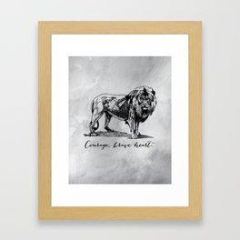 Courage, brave heart - Aslan - Chronicles of Narnia Framed Art Print