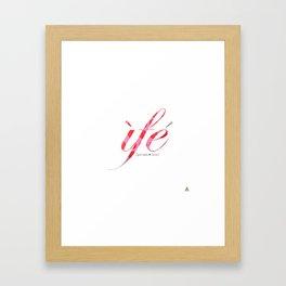 IFE PINK RED GREY Framed Art Print