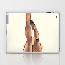 8283s-SLG Legs Up Woman in Mesh Stockings Watercolor Render Laptop & iPad Skin
