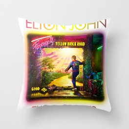 ELTON - FAREWELL YELLOW BRICK ROAD TOUR 2020 AUS,US Throw Pillow