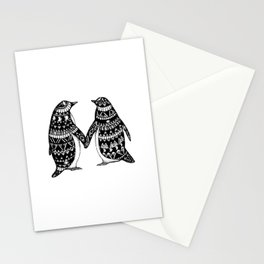 Penguin Couple Stationery Cards