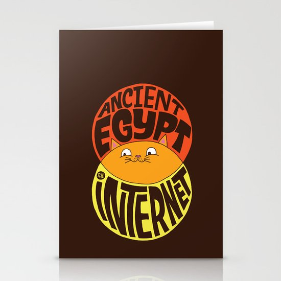 Ancient Egypt, The Internet, Cats Stationery Cards