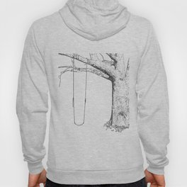 tree and swing, drawing black and white Hoody
