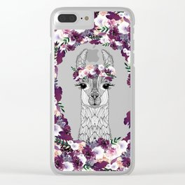 FLOWER GIRL ALPACA Clear iPhone Case