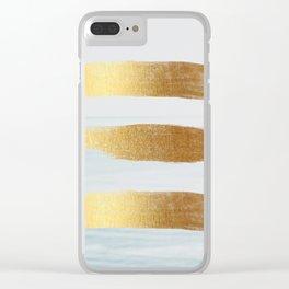 Golden sea Clear iPhone Case