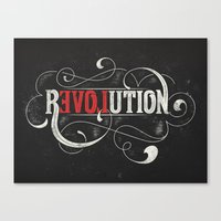 revolution Canvas Prints featuring Revolution by Mobe13