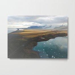 Sunset over the subarctic glaciers Metal Print