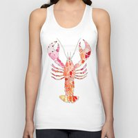 lobster Tank Tops featuring Lobster by fossilized