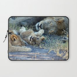 Playful Lion Cub Laptop Sleeve