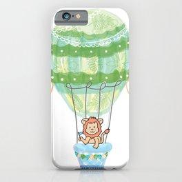 lion in hot air ballon iPhone Case