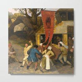 A VILLAGE KERMESSE_Pieter Bruegel the Elder Flemish painter (1526–1569) Metal Print