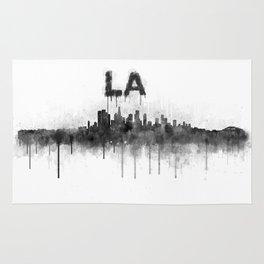 Los Angeles City Skyline HQ v5 BW Rug