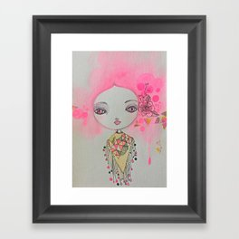 Cotton candy dreaming Framed Art Print