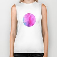 scales Biker Tanks featuring pink scales by Hannah
