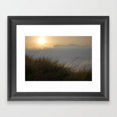 Sunrise macro Framed Art Print
