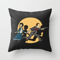 tintin Throw Pillows featuring TinTinfinite by Moysche Designs