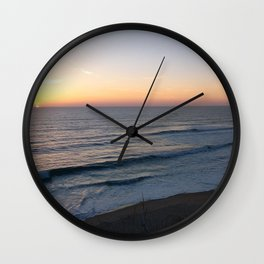 Golden Horizon Wall Clock