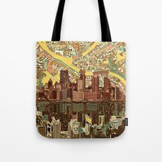 pittsburgh city skyline Tote Bag
