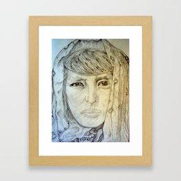 Pueblo Acoma Women 20th Century Framed Art Print