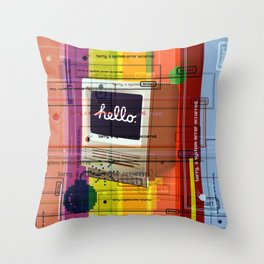 Hello Mac Throw Pillow