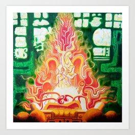 Spirit in Flames Art Print